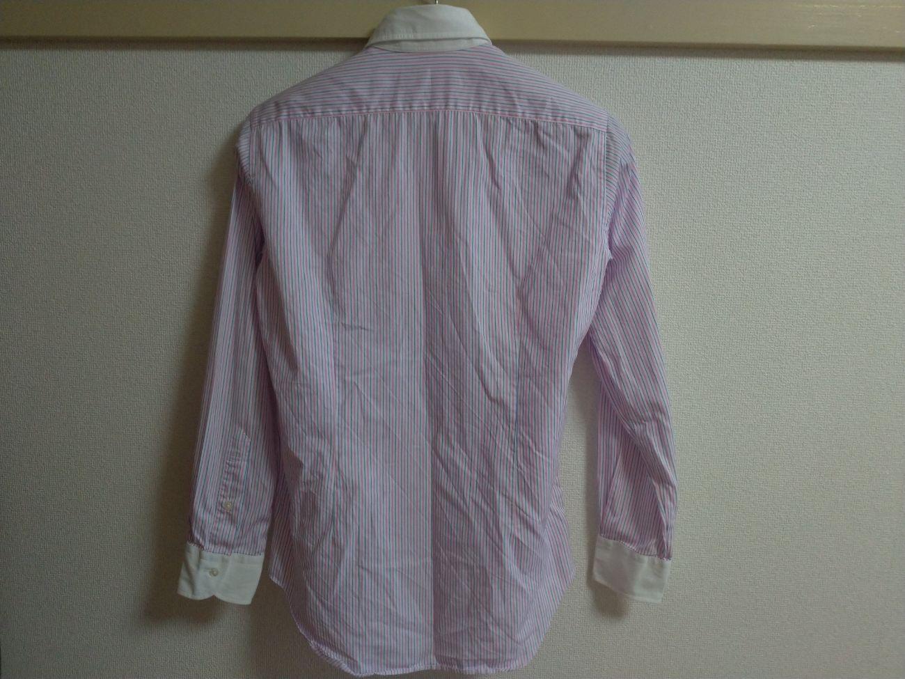 綿のワイシャツ(アイロンがけ前)