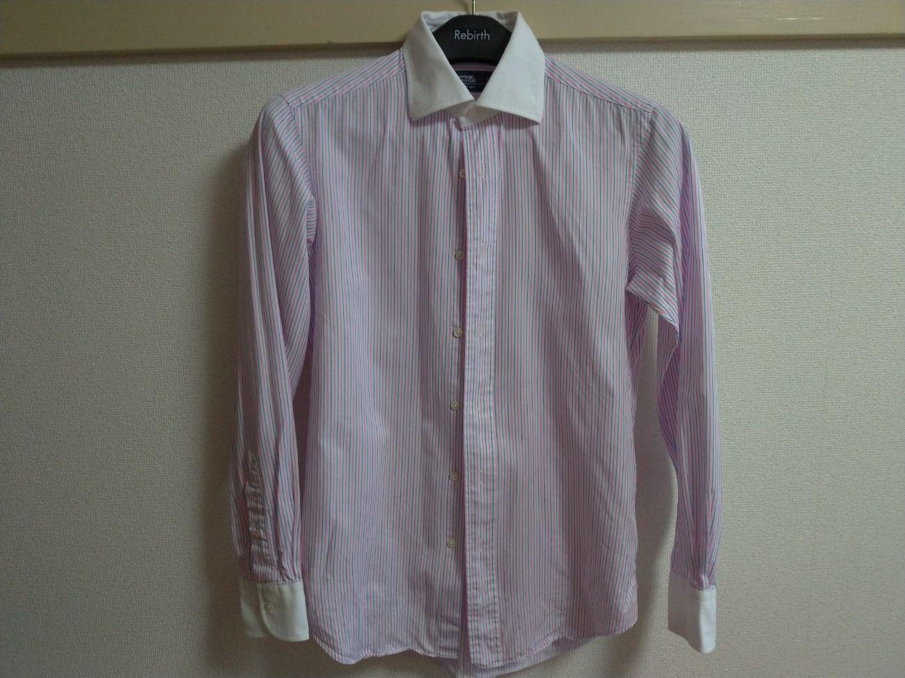 綿のワイシャツ(アイロンがけ後)